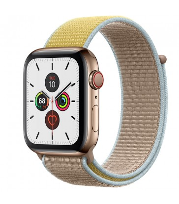 Apple Watch Gold Stainless Steel Case with Sport Loop