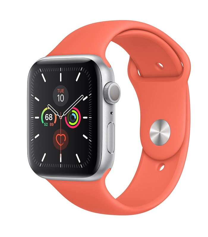 Apple Watch Series 5 Silver Aluminum Case with Sport Band