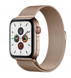 Apple Watch Series 5 Gold Stainless Steel Case with Milanese Loop