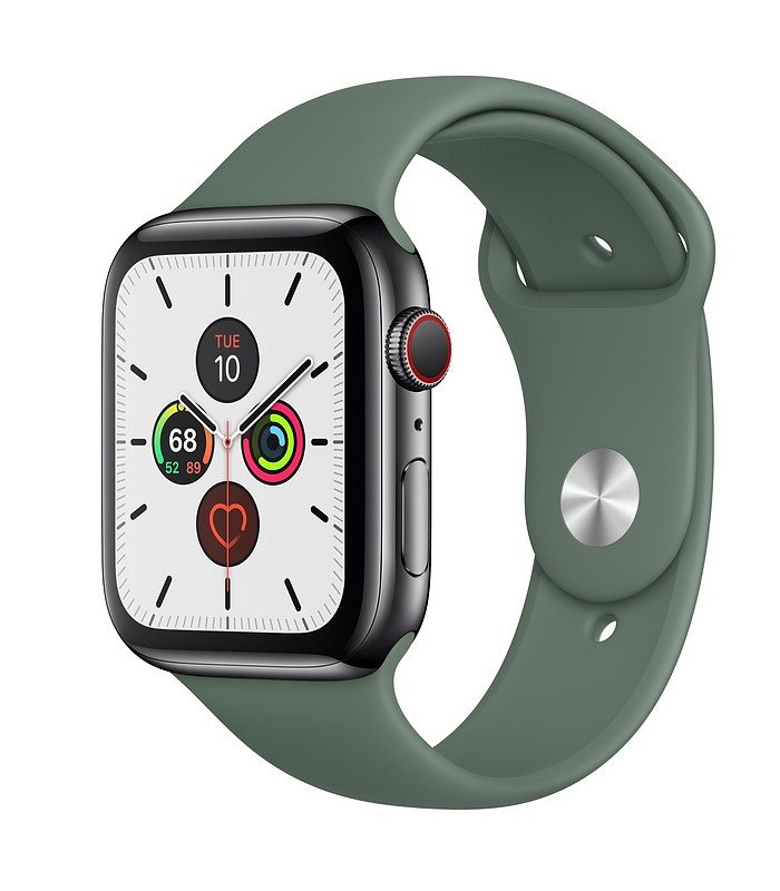 Apple Watch Series 5 Space Black Stainless Steel Case with Sport Band