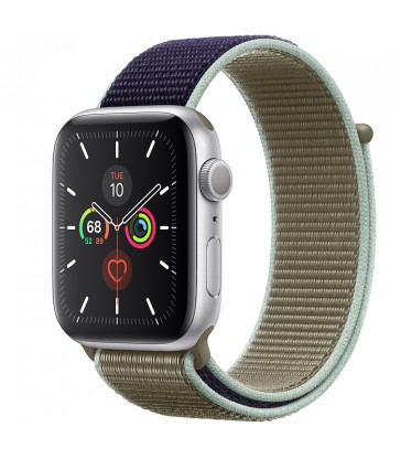 Apple Watch Series 5 Silver Aluminum Case with Sport Loop