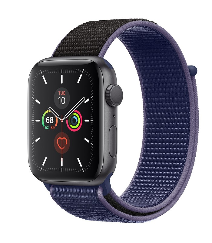 Apple Watch Series 5 Space Gray Aluminum Case with Sport Loop