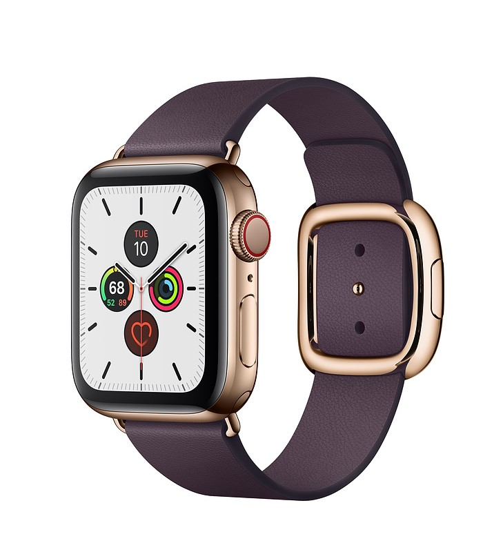 Apple Watch Series 5 Gold Stainless Steel Case with Modern Buckle