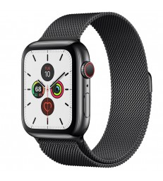 Apple Watch Series 5 Space Black Stainless Steel Case with Milanese Loop