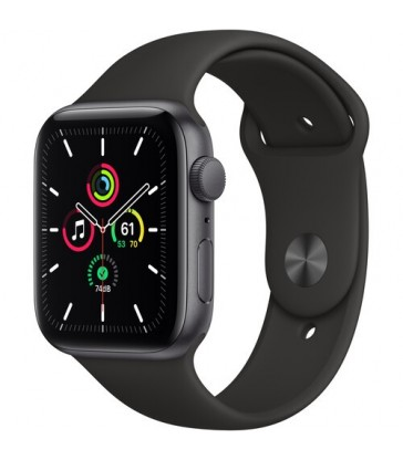 Apple Watch SE (GPS, Space Gray Aluminum, Black Sport Band)
