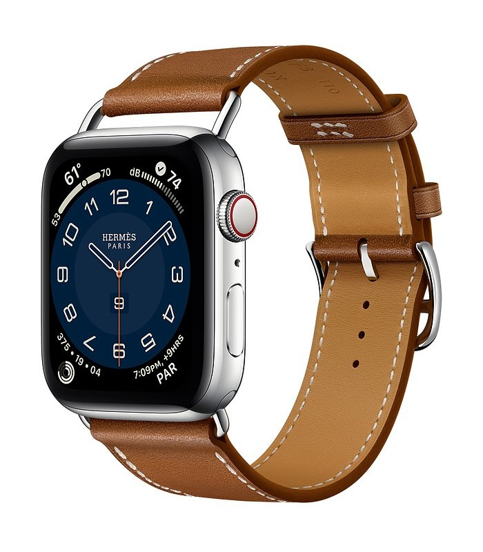 Apple Watch Series 6 Hermès Silver Stainless Steel Case with Attelage Single Tour