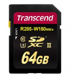 Transcend 64GB Ultimate UHS-II SDXC Memory Card (U3)